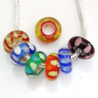 Assorted Murano Glass beads fit Pandora Bracelet PK 20
